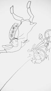Parmi les idées de Livia, nous n'avons finalement pas inclus dans l'histoire un empoisonnement, une escalade de la Perdrix, une télévision possédée par une bigoudène malade, ou encore un accident de vélo !